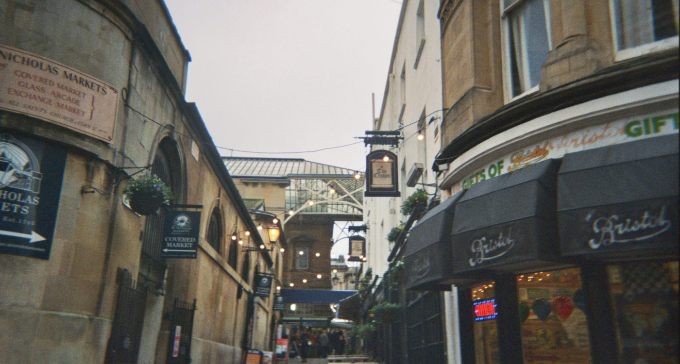 Hersi's photograph (for the 21st Century Kids) of the entrance to St Nicholas Market via All Saints Lane.