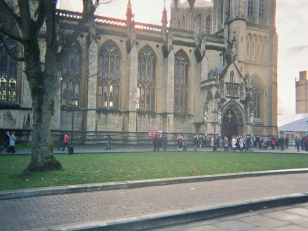 Lydia's photograph (for the 21st Century Kids) of Bristol Cathedral on College Green