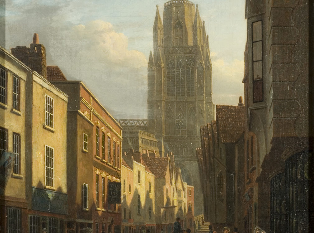 Painting of Redcliffe Street, Bristol, about 1821, By James Johnson, K2828
