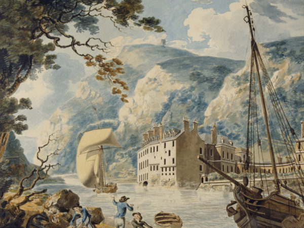 Watercolour paining of Avon Gorge and Bristol Hotwell by Joseph Mallord William Turner, 1791/92