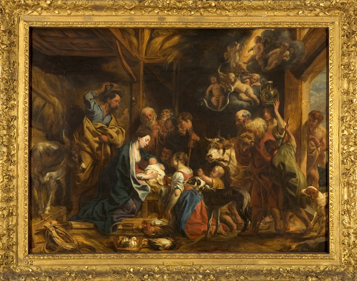 Image of the painting of the nativity by Jacob Jordaens