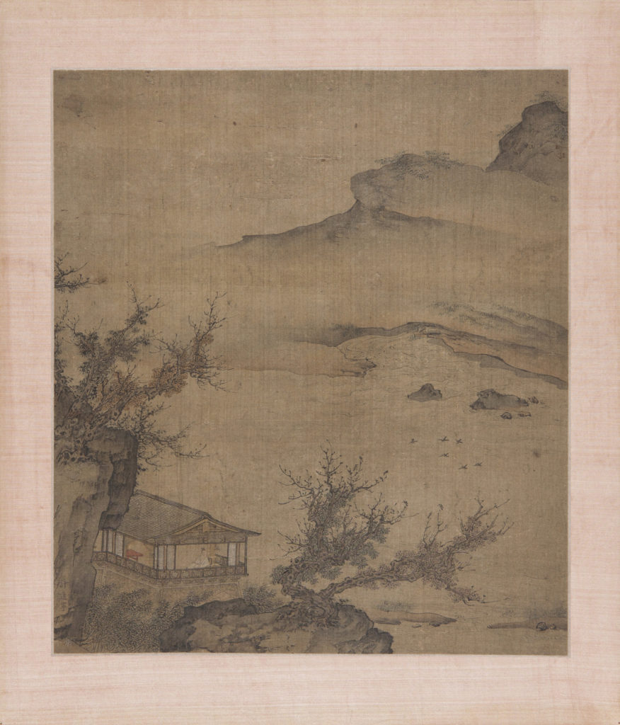 Scholar on a Balcony Overlooking a River Unknown artist, China, Qing dynasty (1644-1911)