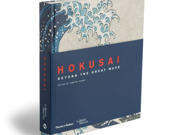 Photograph of the book, titled Hokusai: Beyond the Great Wave