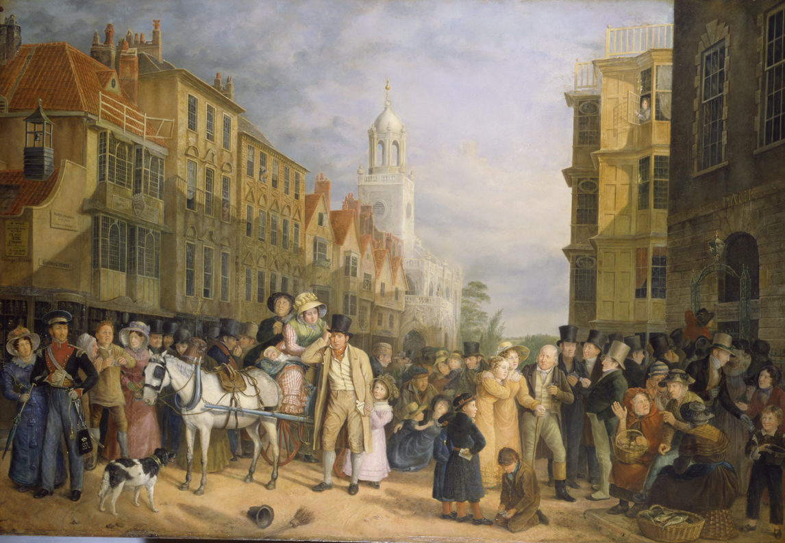 Painting of Bristol street scene