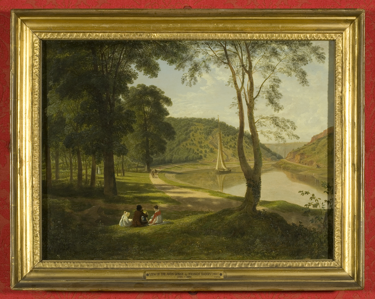 Painting of woodland scene with river