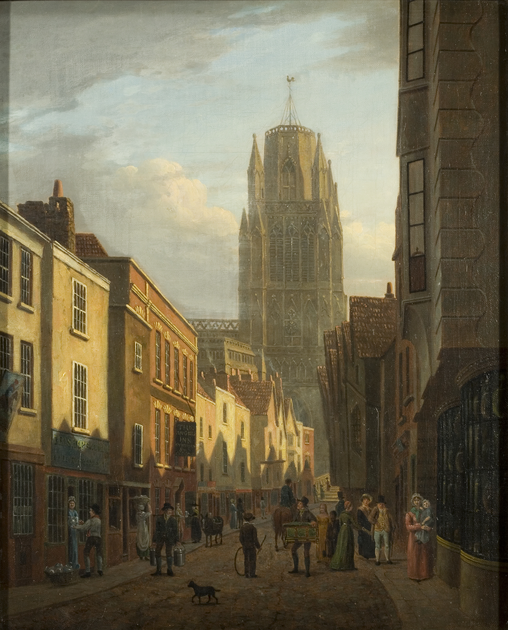 Painting of Redcliffe St, Bristol