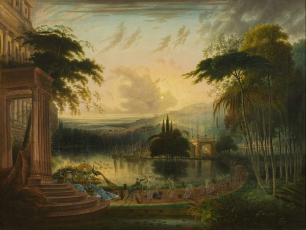 Painting of fantasy landscape