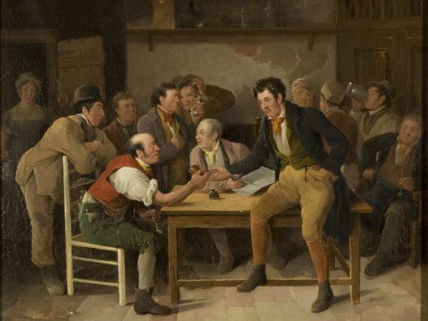 Painting of Bristol pub scene