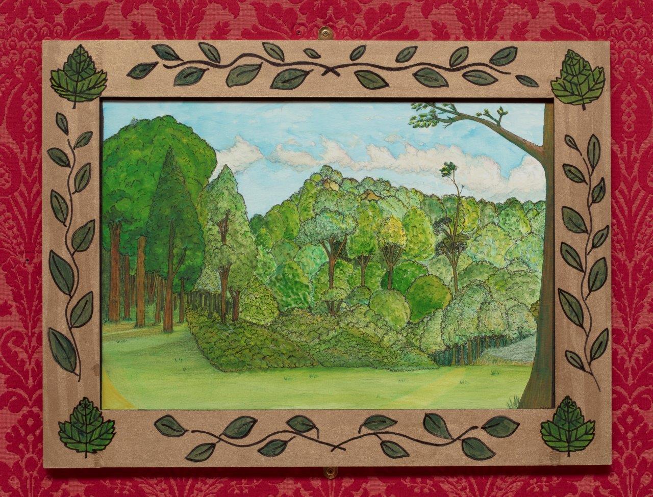Painting of woodland scene