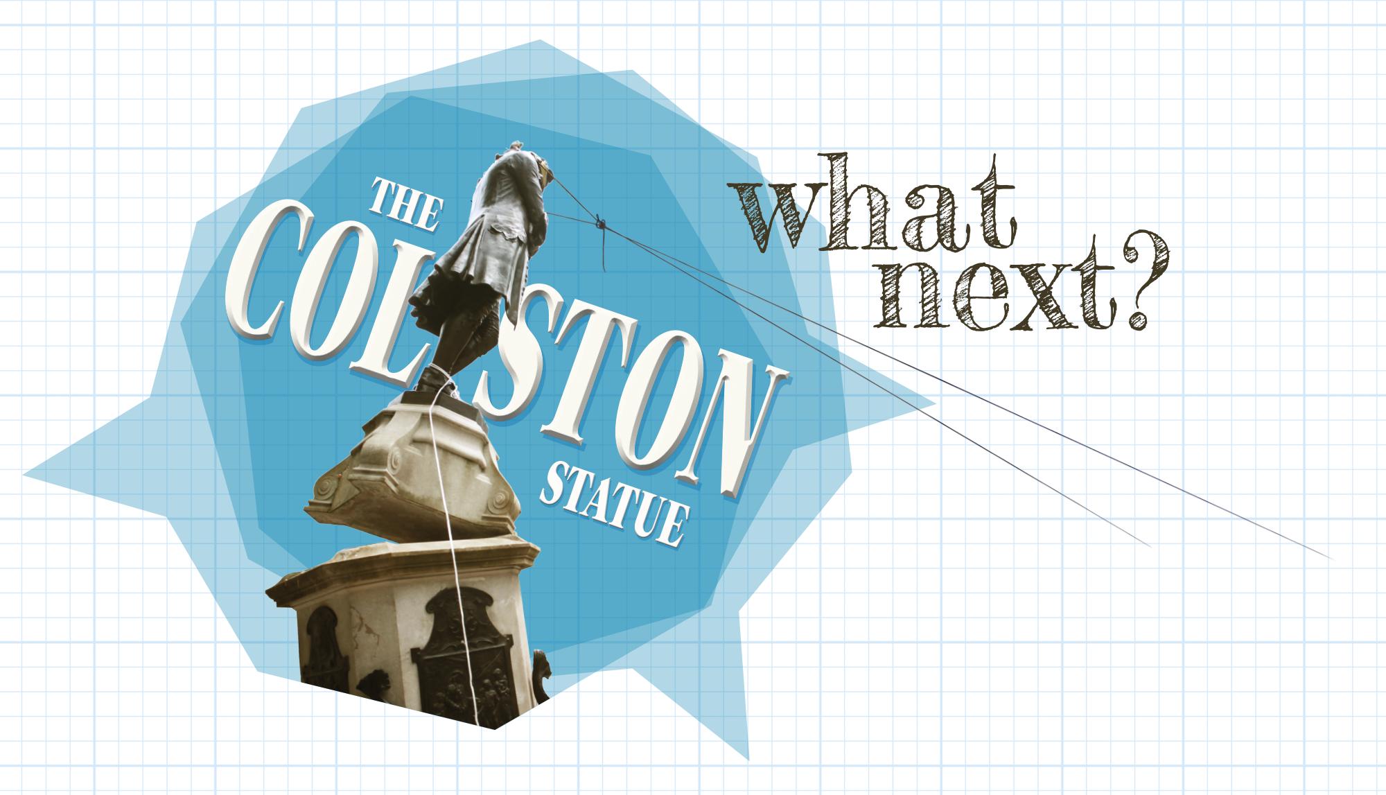 Header image logo for 'The Colston Statue: What Next?' display. (© Marton Gosztonyi)