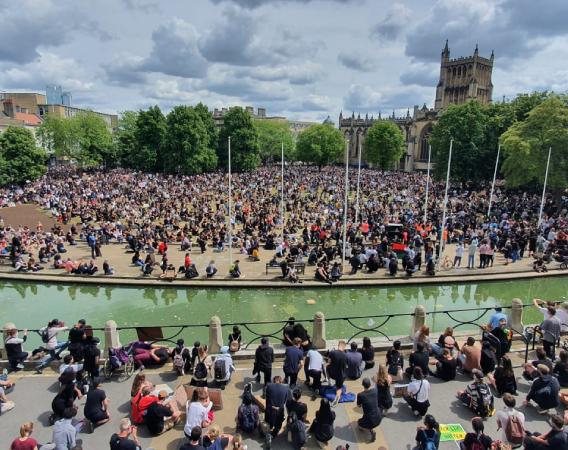 Small image of All Black Lives Bristol protest, College Green, Bristol, 7 June 2020 (©Bristol City Council)